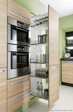 Modern Two-Tone Kitchen Cabinets #06 (Alno.com, Kitchen-Design-Ideas.org) #cocinaspequeñasorganizar