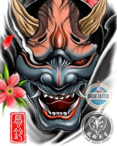 Old School Tattoo Designs, Tatoo Designs, Japanese Tattoo Art, Japanese Sleeve Tattoos, Hannya Maske, Photoshop Tattoo, Samurai Warrior Tattoo, Buddha Tattoo Design, Hannya Mask Tattoo