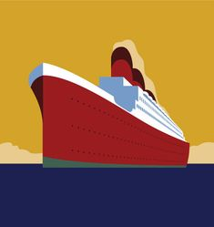 The period between the end of the century and World War II is considered the golden age of the ocean liner. We'll be starting with a basic sketch of an ocean liner I drew up. Of course I. Cruise Ship Pictures, Ship Logo, Ship Drawing, Art Deco Posters, Modern Art Deco, Diy Canvas Art, Illustrator Tutorials, Ship Art, Legoland
