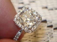 The Harry Winston Micropave engagement ring