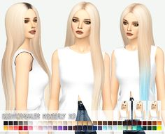 Kimberly hairstyle retextured for The Sims 4 Sims 4 Ps4, Sims Cc, Sims 4 Game Mods, Sims Mods, Kimberly Hair, The Sims 4 Cabelos, Pelo Sims, The Sims 4 Packs, Sims4 Clothes