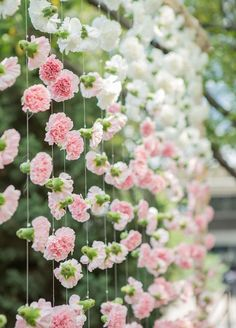 Wedding Flowers, Wedding Decorations, Flower Arrangements, Flower Chandelier || Colin Cowie Weddings