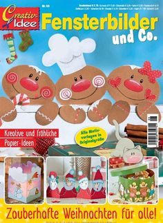 Order the current issue of Creativ-Idee as an single issue and find out more about Parents & Animals. With Trusted Shops guarantee and TÜV seal. Christmas Advent Wreath, Felt Christmas Ornaments, Christmas Gingerbread, Christmas Carol, Christmas And New Year, Christmas Crafts, Xmas, Christmas Ideas, Magazine Crafts