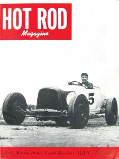 HOT ROD, July 1948. See all HOT ROD covers at http://www.hotrod.com/whereitbegan/hrdp_0808w_hot_rod_magazine_covers/ #hotrodmagazine #hotrod #cover #june #1948 #40s #ford #roadster #track #jalopy