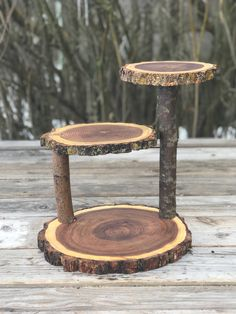 Small Log Elm Wood Rustic Cake Cupcake Stand Collapsible Wedding party, lumberjack party, wild things are shower wooden, boho, 3 tiered stan – decoration Rustic Cake Stands, Wooden Cake Stands, Wedding Cake Stands, Wedding Cakes, Cupcake Stand Wedding, Wooden Wedding Cake Stand, Rustic Cake Toppers, Cake And Cupcake Stand, Cupcake Cakes