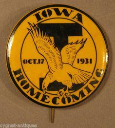 Oct 17 1931 Iowa Hawkeye Football Homecoming Pinback Button | eBay
