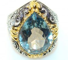Excellent Swiss BlueTopaz Sterling Silver Ring s. 7