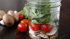 Our Mason Jar Salad Shakers are make-ahead, grab-and-go salads in a jar. Simply make, shake and eat!