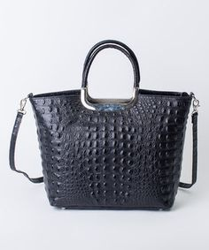 Another great find on #zulily! Nero Crocodile Leather Tote by Pelleterie Lisa #zulilyfinds
