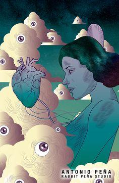 """""""Trono"""" Ilustración por: Antonio Peña / Rabbit Peña Studio Illustration  #illustration #design #art"""
