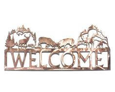 Fighting Elk Welcome Sign by VulcanixArt on Etsy