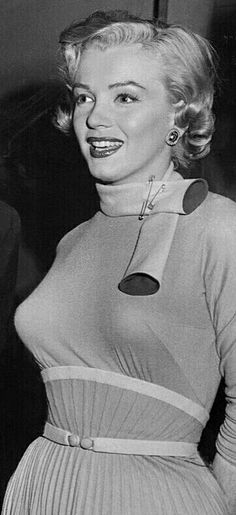 """Marilyn off-set during the filming of """"Monkey Business"""", 1952."""