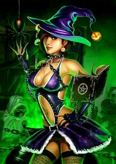cartoon witch Sexy halloween