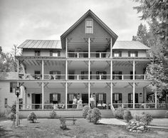 """1906. Lake George, New York. """"Horicon Lodge, Cleverdale."""" Come on by and set a spell."""