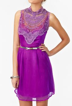 Lilac Lace Dress #radiantorchid #nastygal #summerstyle