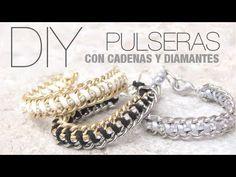 DIY:Pulseras fáciles con cadenas - YouTube