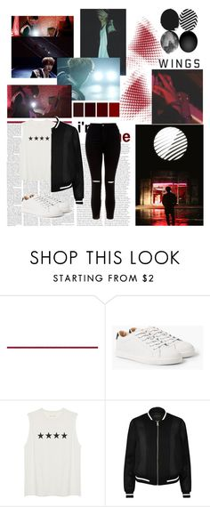 """""""BTS WINGS Short Film #4 FIRST LOVE"""" by ninaxo17 on Polyvore featuring MANGO, River Island and New Look"""