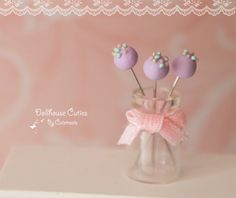Dollhouse miniature desserts  Cake pops by Cutetreats on Etsy, $18.95