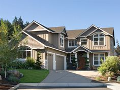 Wow, this is exactly what Mic and I want for our dream home {but w/ a 3 car garage and shop}