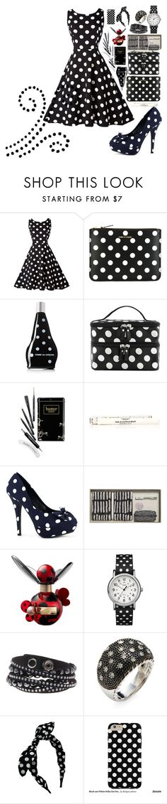 """""""dots"""" by amila-lugavic ❤ liked on Polyvore featuring Comme des Garçons, Butter London, Lauren B. Beauty, HAY, Marc Jacobs, Timex, Swarovski and Rina Limor"""