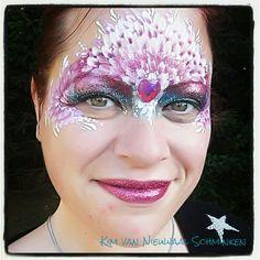 Inspired by Kristin Olsson Flowers mask facepaint