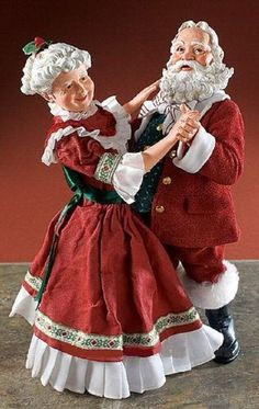 Shall We Dance Santa and Mrs Claus Father Christmas, Santa Christmas, Christmas Colors, Winter Christmas, Vintage Christmas, Primitive Christmas, Country Christmas, Christmas Trees, Christmas Decor