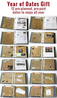 135 homemade christmas gift ideas to make him say wow pinterest year of dates gift 12 pre planned pre paid dates to enjoy all year creative boyfriend solutioingenieria Gallery