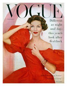 Vogue Cover - November 1956   Richard Rutledge