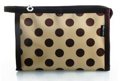 Simplicity Polka Dot Soft Silk Feel Matte Glossy Zipper Cosmetic Bags Makeup Organizers With Mirror - Yellow with Brown Dots Size S by Simplicity. $11.99. Features a simple and elegant style with matte glossy polka dot pattern.. Function: comes with a mirror and multiple pockets - 1 main pocket, 2 clear pockets, and 1 zipper pocket. Features a hanging loop at the end of the zipper.. A must have for anyone who wants to store and organize their beauty essentials. The...