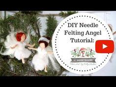 Needle Felted Waldorf Inspired Angel Ornament: A Beginning DYI Needle Felting tutorial - YouTube
