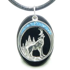 Howling Wolf Moon Amulet Spiritual Black Agate Gemstone Leather Necklace BestAmulets http://smile.amazon.com/dp/B005HB9CCE/ref=cm_sw_r_pi_dp_dhZrub04VVT6H