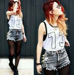 more fire hair. that and lace is so trendy. the outfits cute too :)