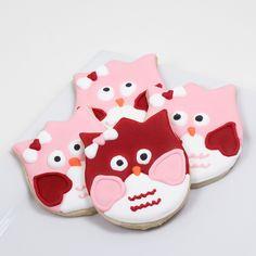 Valentine's Owl Cookies
