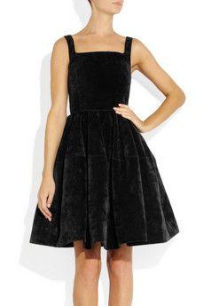 Lanvin black velvet dress #lanvin