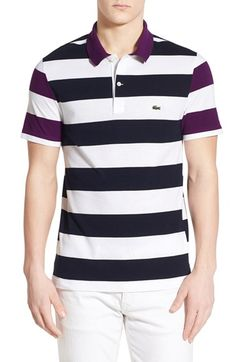 Lacoste Colorblock Bar Stripe Pique Polo 3a3864fd8a011