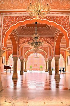 Indian Palace, Jaipur India (inspo: house of Ivistel in Sanaa) India Architecture, Beautiful Architecture, Beautiful Buildings, Gothic Architecture, Ancient Architecture, Modern Buildings, Jaipur Inde, Rajasthan India, Delhi India