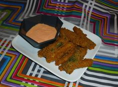 Baked Eggplant and Zucchini Fries with Spicy Mayo Dipping Sauce at Surviving the Food Allergy Apocalypse