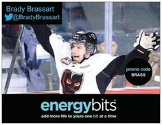 "BRADY BRASSART: Brady currently plays for the NHL Minnesota Wild team! He made his debut in the NHL March 2014. Brady plays center and shoots right. After his professional hockey career he would like to become an entrepreneur. ""In my specific sport ENERGYbits gives me the energy that I need throughout the whole game to be at my best. I want to be involved with something that I know works, is healthy, and has a positive influence on the sport."""
