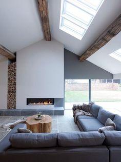 Dwukondygnacyjny salon- czyli wnętrza, które inspirują. | Projekt Stodoła