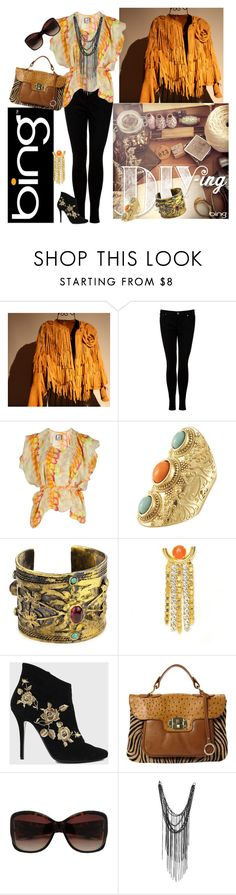 """""""Looks to DIY for with the Bing Summer of Doing"""" by signaturenails-dstanley ❤ liked on Polyvore featuring Leatherock, dVb Victoria Beckham, Anntian, Miso, Gypsy, Lizzie Fortunato Jewels, Balmain, Edina Ronay and Friis & Company"""