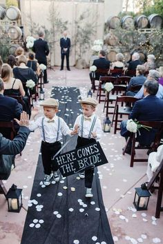 Wedding Chalkboard here comes the bride