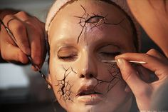 cracked doll makeup! Creepy but awesome!