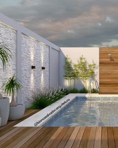 Backyard Pool Designs, Small Pools, Small Backyard Landscaping, Patio Design, Swimming Pool Landscaping, Swimming Pool Designs, Outside Pool, Small Pool Design, Outdoor Pergola