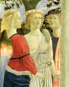 ❤ -  PIERO DELLA FRANCESCA - (1415 - 1492) - The Baptism Of Christ (detail).