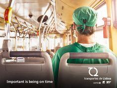 ポルトガル公共交通機関の広告。医師、花嫁、消防士に共通することとは | AdGang