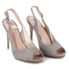 Semišové topánky na podpätku LT73G 81b0d9b8d41