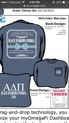 WKU Epsilon Delta Chapter Formal Shirts. #ADPi #AlphaDeltaPi #SororityShirts #GreekLife