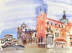 Raoul Dufy,Venice oil painting reproductions for sale