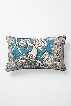 Peafowl Pillow. Anthropologie. $128. Thanks for thinking of the working class, Anthropologie!