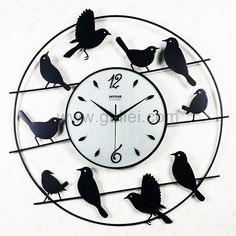 Unusual Design Birds Decorative Wall Clock Gift